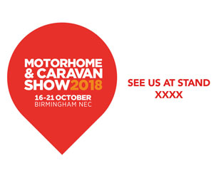 Next Show - NEC Motorhome and Caravan Show 16th - 21st October 2018